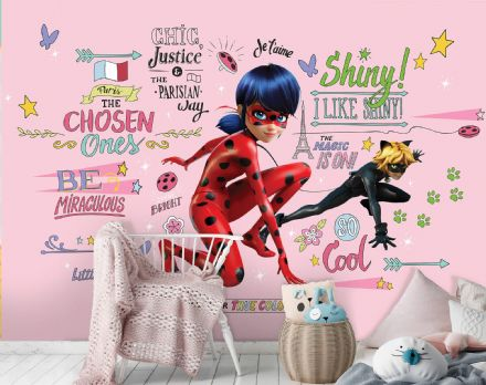 "Miraculous Non-Woven photo wallpaper ""red"" Marinette"